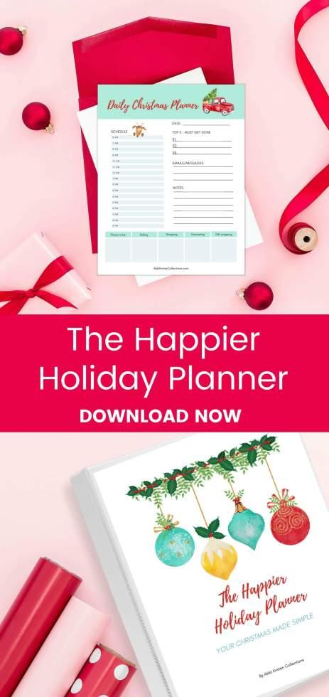Christmas holiday printable planner