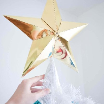 DIY Paper Christmas Tree Star Topper: Free Template