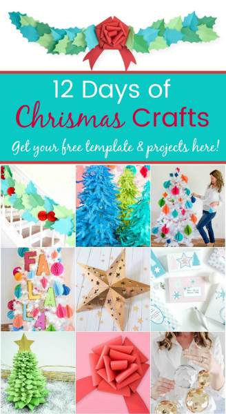 Free Christmas craft DIY projects and templates.