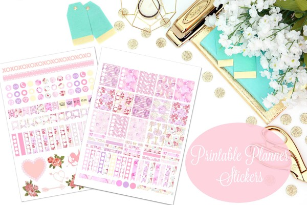 February Planner Stickers