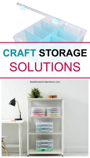 The best craft storage solutions to finally organize your craft room once and for all. Paper storage, pegboard organization, drawer storage and more!