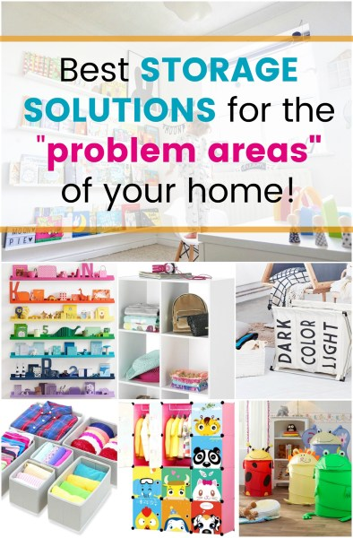 Home Storage Ideas: The best storage solutions to tidy your home! I use the Marie Kondo method along with these home organizational solutions to tidy up.