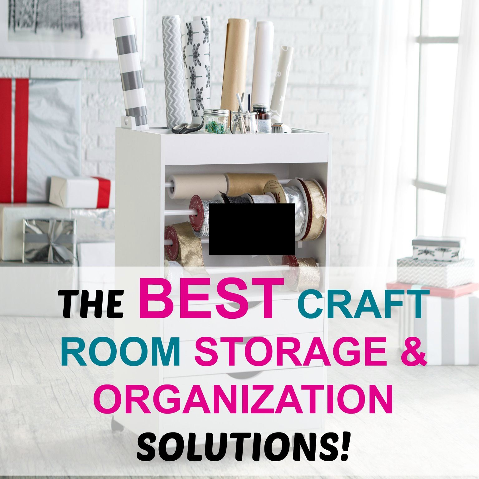 19 Craft Storage Solutions: How to Final Organize Your Craft Room!