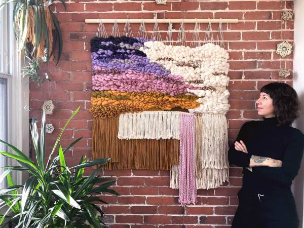 Fiber art and macrame wall hangings