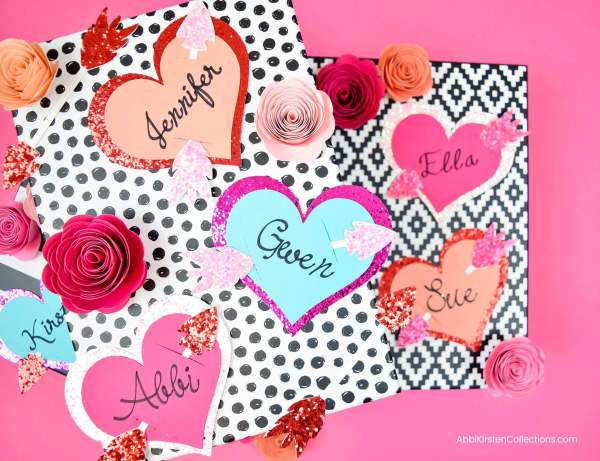 Valentine's Gift Tags: Free Heart and Arrow SVG cut file. Use this free svg to create Valentine's gift tags, banners and more.