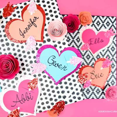 Valentine's Gift Tags: Free Heart with Arrow Gift Tag SVG Cut File