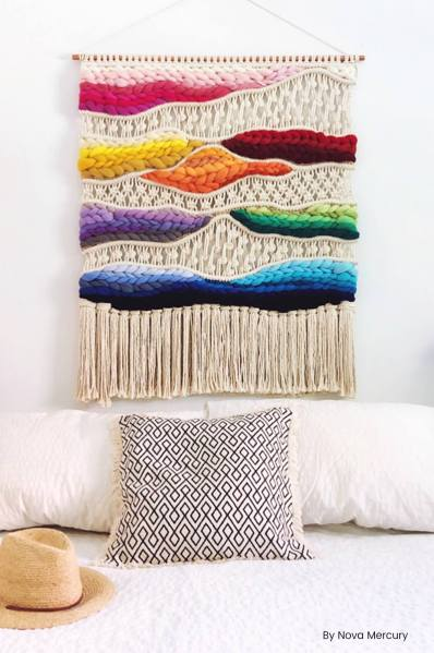 modern macrame wall hangings