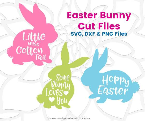 Free Easter bunny SVG files.