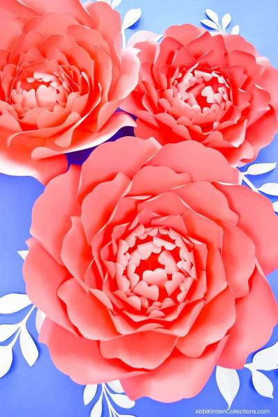 Large Paper Peonies DIY Tutorial