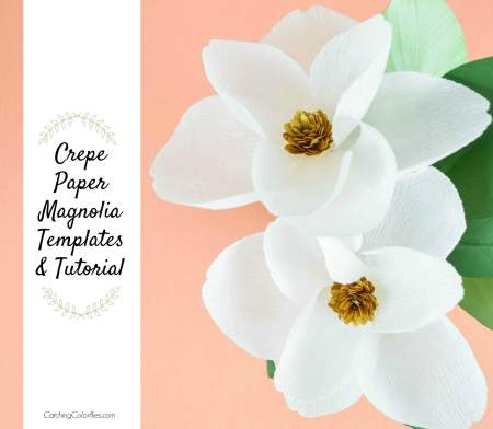 DIY Crepe Paper Magnolia Flowers