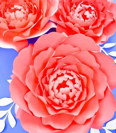 large paper peony templates