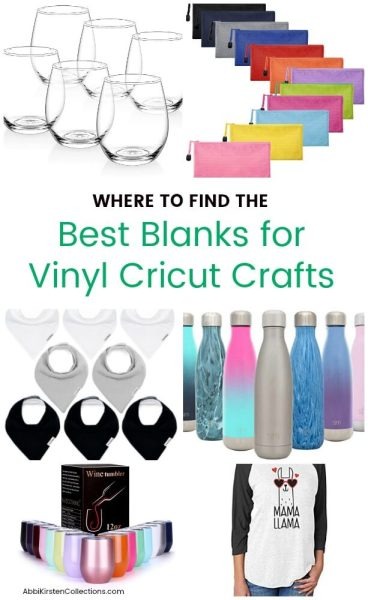 Where to find the best craft vinyl blanks for your Cricut projects.