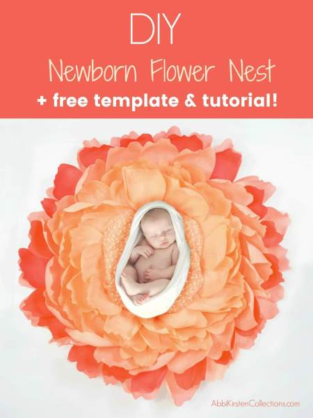 FREE giant crepe flower template
