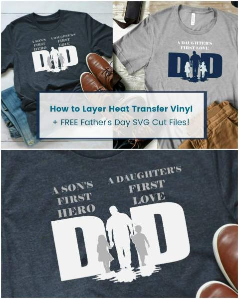 Learn How to Easily Layer Heat Transfer Vinyl: Follow this step by step video tutorial to layer any iron on heat transfer vinyl to your canvas projects!