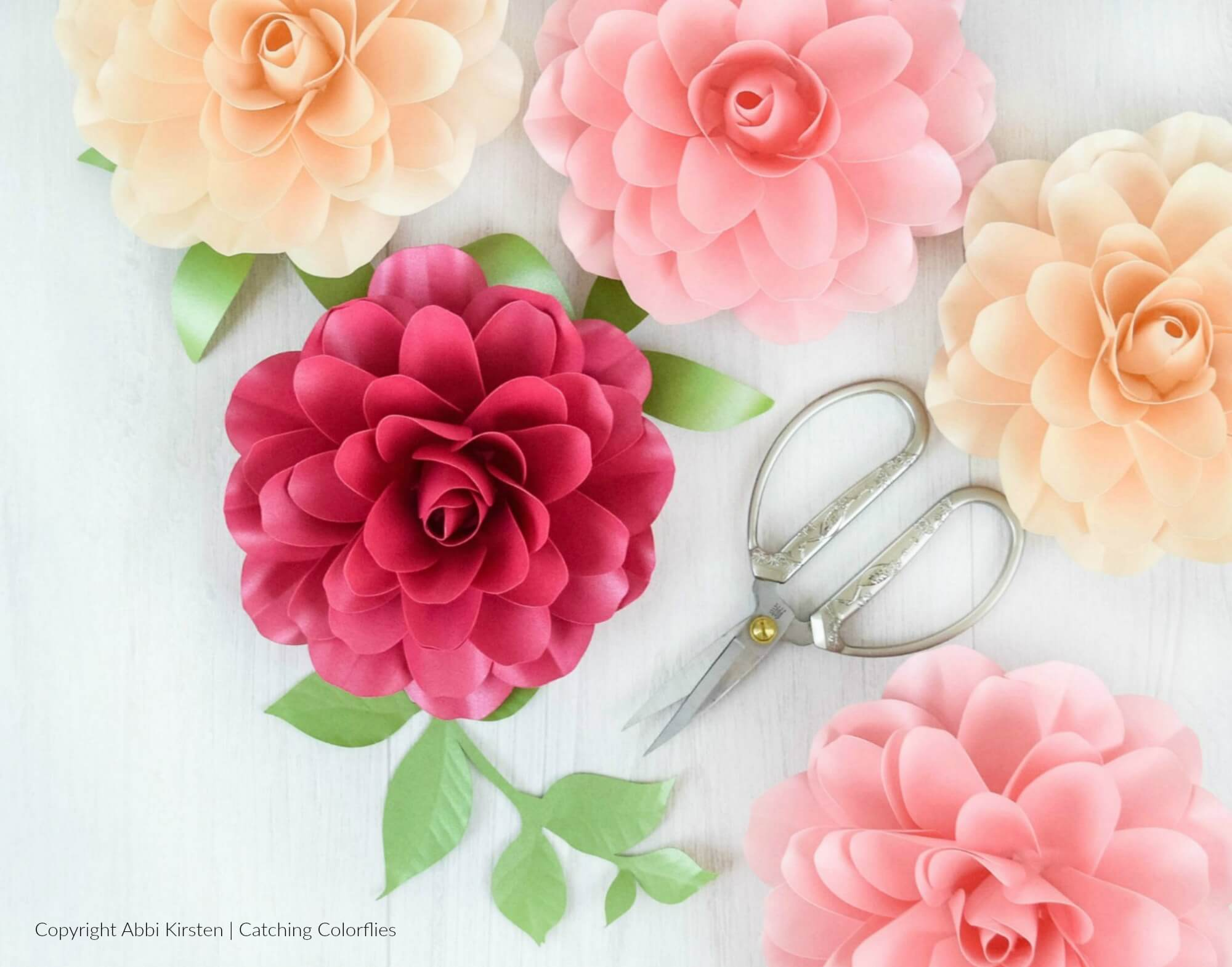 How to Make Small Paper Roses: Camellia Rose Template & Tutorial