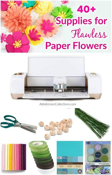 Create easy paper flowers step by step with this list of supplies, paper resources and techniques to make paper flowers come to life!
