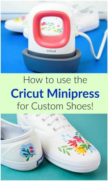 How to Use the Cricut Easpress Mini: DIY Custom Shoe Tutorial with the new Cricut Easpress Mini. Plus Free Cricut SVG Cut Files.
