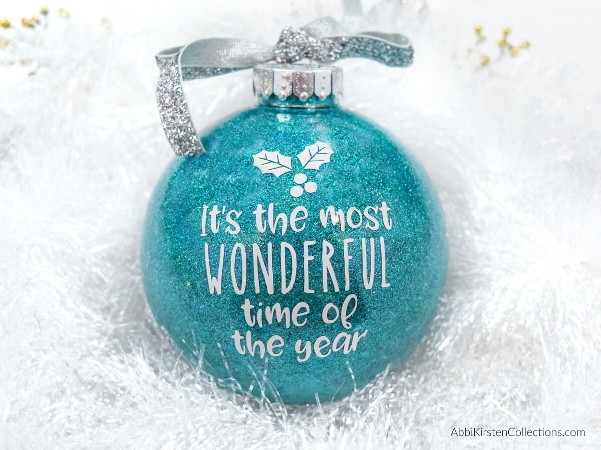 DIY Glitter Christmas Ornaments: The Easy Way to Make Your Own Custom Ornaments