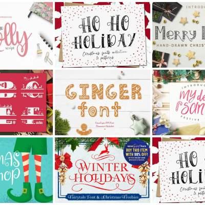 30 Best Christmas Fonts for Cricut Design Space