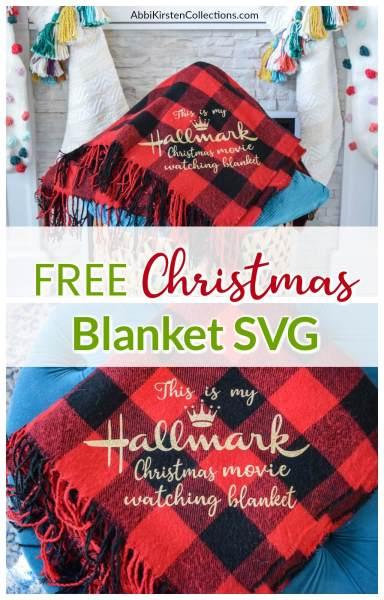 Christmas blanket SVG