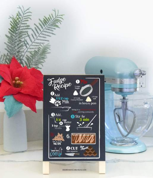 DIY Christmas signs with vinyl