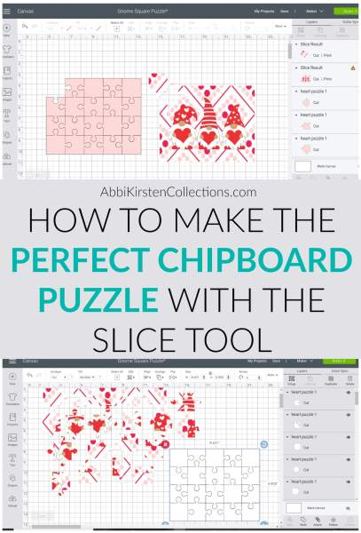 How to make easy chipboard and kraft board puzzles with your Cricut Explore and Maker machines.