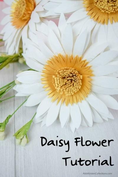 paper daisy flower tutorial
