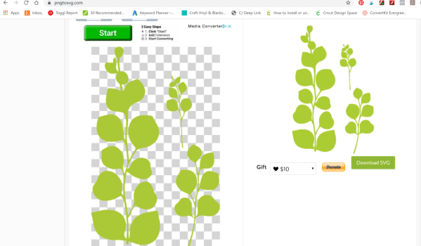 How to convert an image to a SVG cut file.
