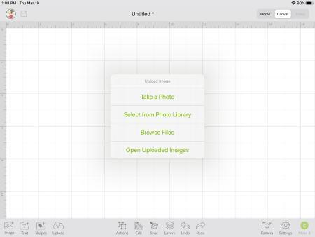 upload svg in design space