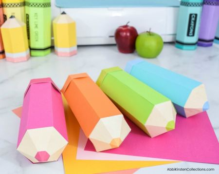 Colored pencil foldable boxes