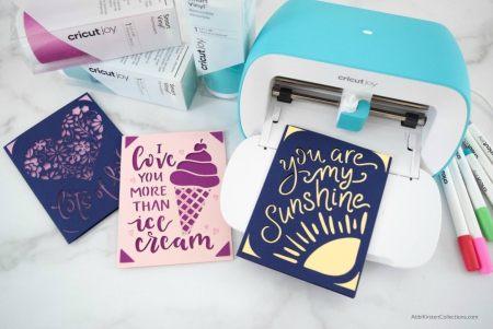 Card inserts using the Cricut Joy.