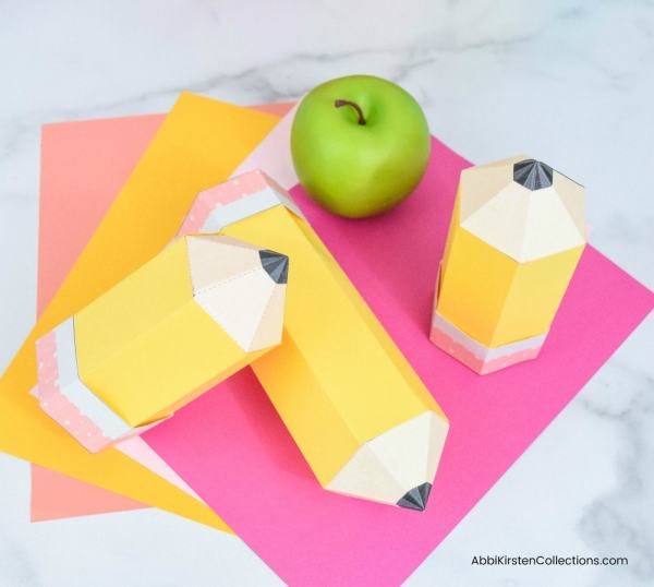 Pencil paper gift boxes