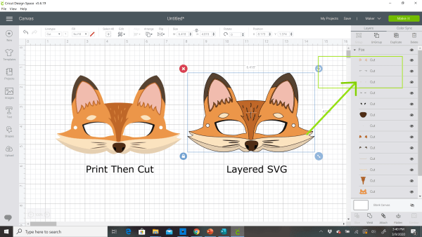 Print Then Cut verses SVG Cut files