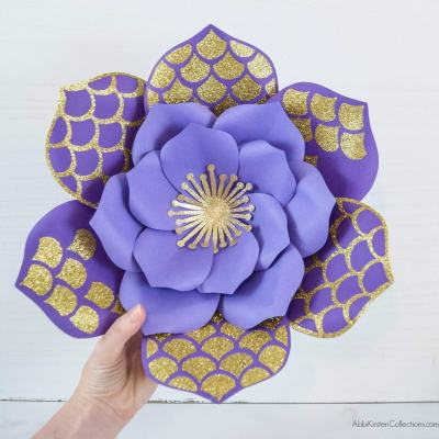 How to Add Patterns and Shape Cut-Outs to Your Paper Flower Templates in Cricut Design Space