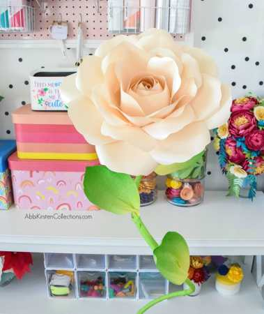 How to make stems for large paper flowers