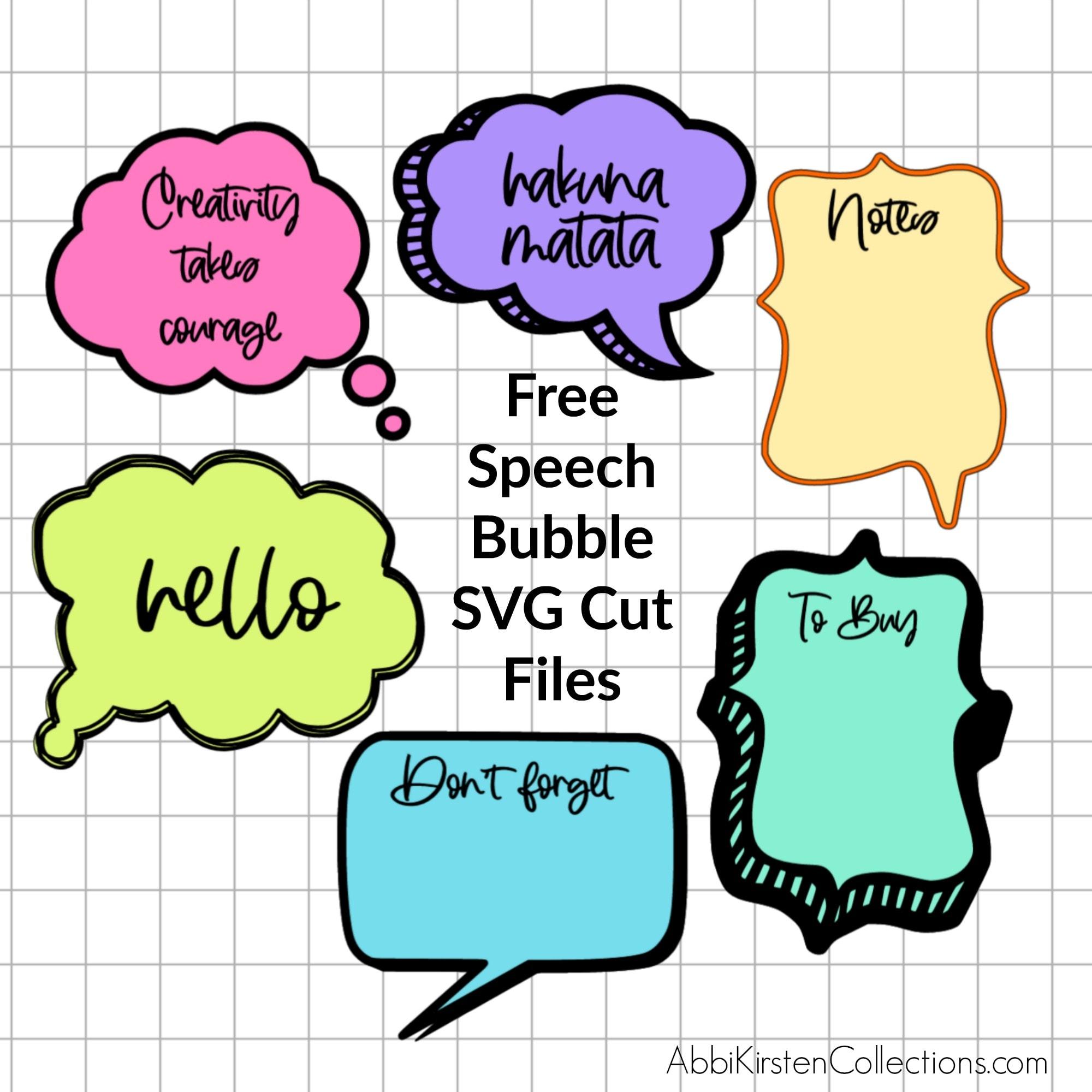DIY Speech Bubble SVG Files for Notes with Dry Erase Cricut Vinyl