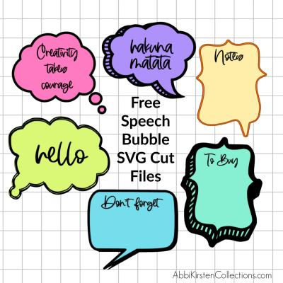 DIY Speech Bubble SVG Files for Notes with Dry Erase Cricut Vinyl