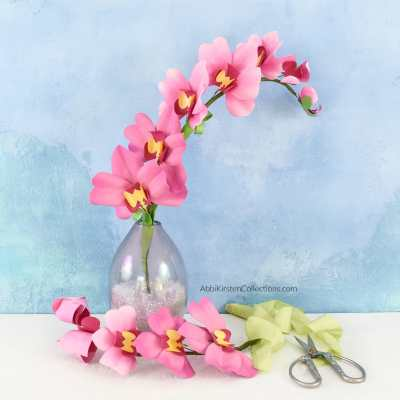 DIY Paper Orchid Flower Tutorial with Templates