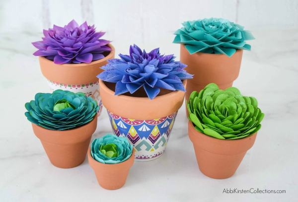 DIY paper succulent flower tutorial