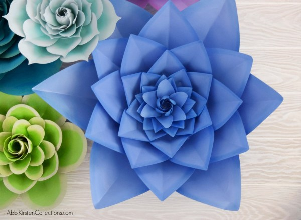 Large paper flower templates.