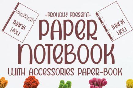 paper notebook font