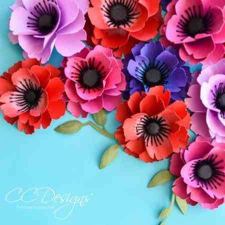 Small paper poppy flowers.