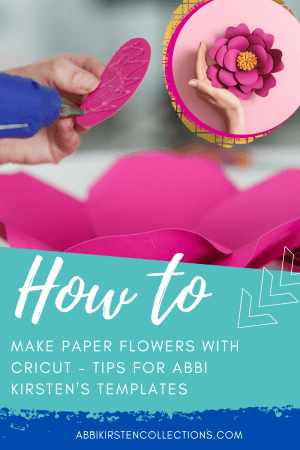 How to Make Paper Flowers with Cricut. After years of helping crafters create paper flowers here are my best tips when using your Cricut to make flowers!