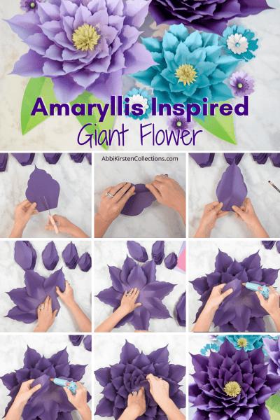 Easy amaryllis paper flower tutorial.