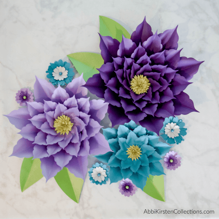 How to make easy paper flowers for backdrops.