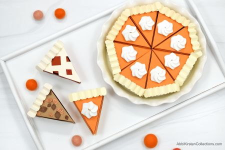 DIY Pumpkin Pie Boxes - Thanksgiving Favor Treat Box Templates