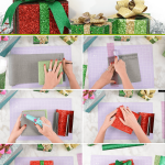 DIY Decorative Christmas Gift Boxes with Faux Glitter Leather