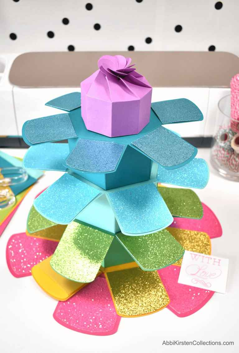 How to Make an Explosion Stacking Tower Gift Box – Free Templates and Tutorial