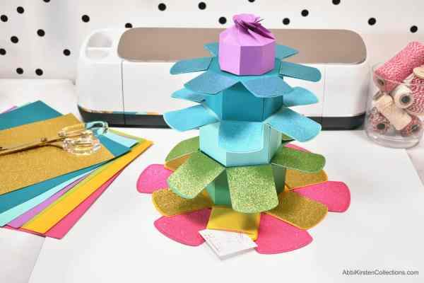 Paper gift box template free.