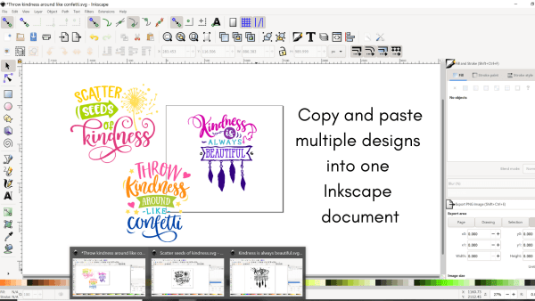 How to save multiple designs in one svg for cricut design space uploads